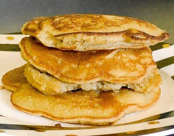 Dairy free gluten free pancake stack
