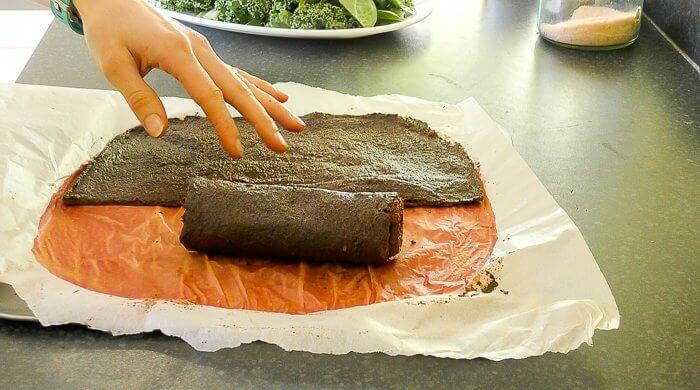 flourless beetroot wrap
