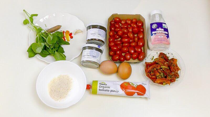 gluten free tomato wraps ingredients