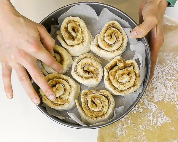 soft and light gluten and dairy free cinnamon rolls