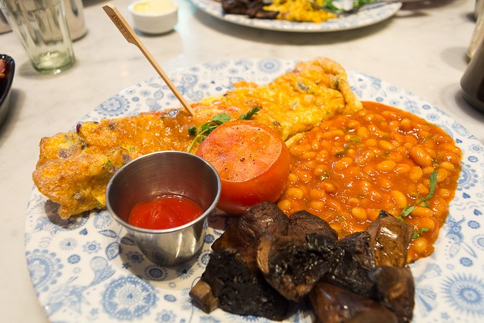 Dishoom London review dairy free gluten free Bombay omelette