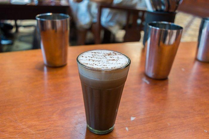 Dishoom London review chocolate chai