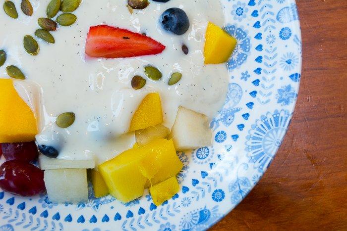 dairy free fruit coconut yoghurt Dishoom London review