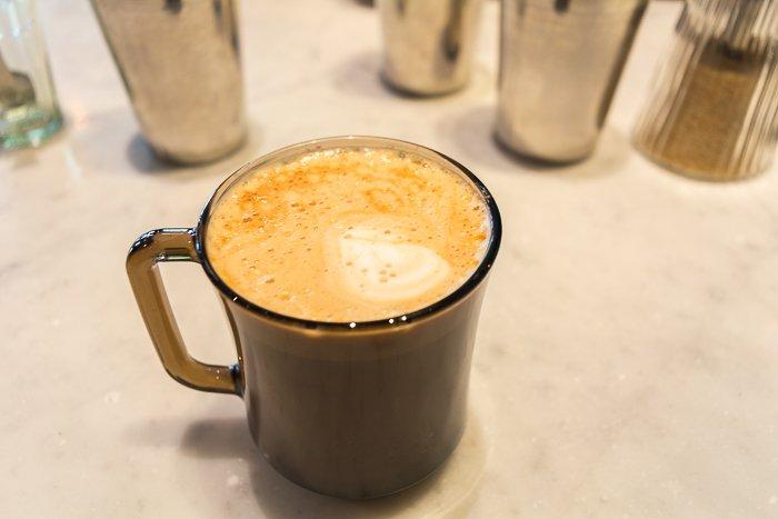 Monsooned malabar dairy free latte Dishoom London review