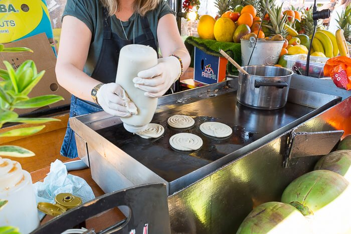 OSU coconuts making pancakes