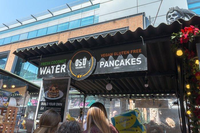 OSU Coconuts pancakes Camden Market