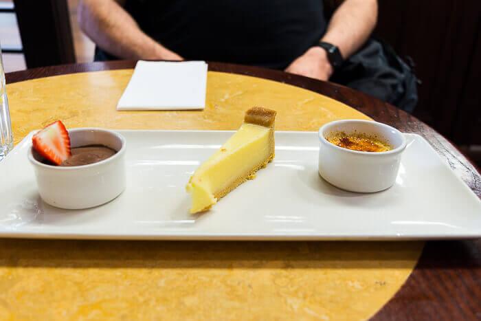 cafe rouge trio of desserts gluten free