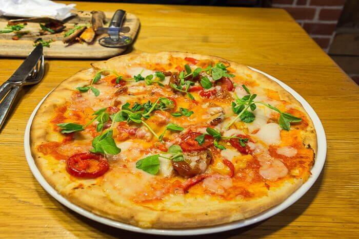 Zizzis gluten free pizza