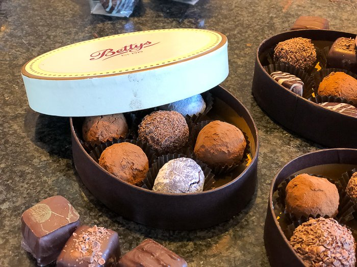 Bettys chocolate course boxed truffles