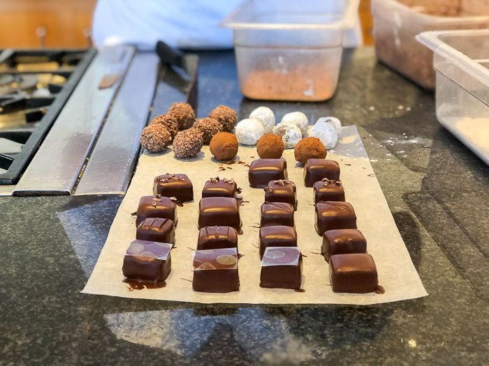 decorated choclates Bettys chocolate course Harrogate