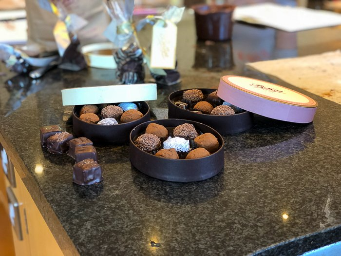 Bettys decorated boxed chocolates course Harrogate