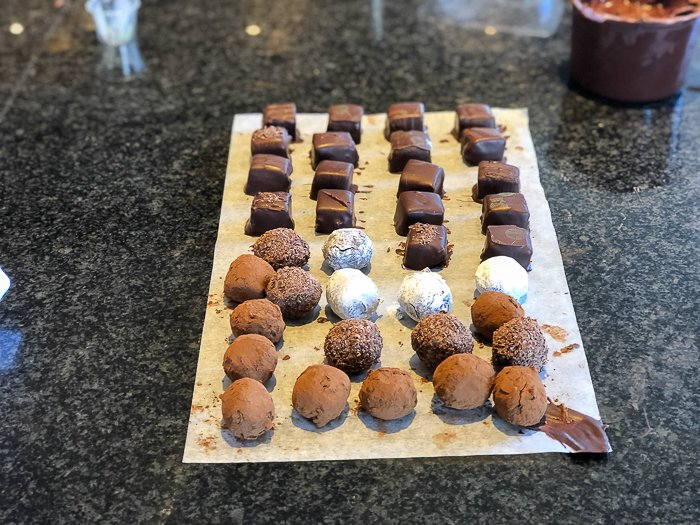 decorated truffles chocolate mair hunt Bettys course review