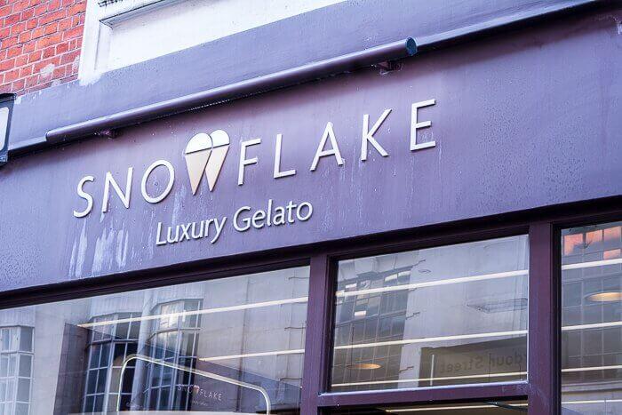 Snowflake Gelato London dairy free Ice cream parlour