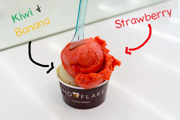 Snowflake Gelato London review dairy free Ice cream review sorbet
