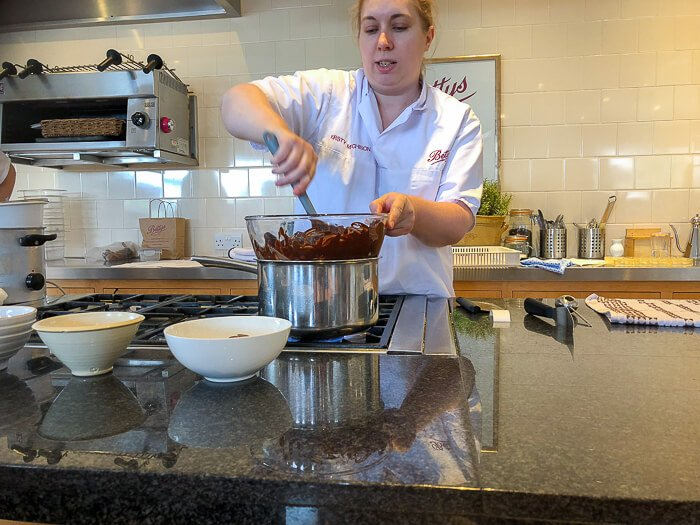 Kirsty melting chocolate Bettys chocolate class review