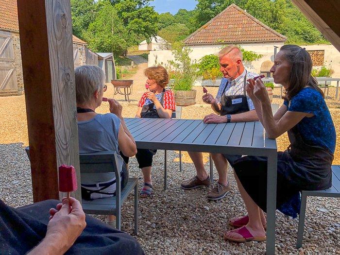 sitting decking River Cottage school gluten free