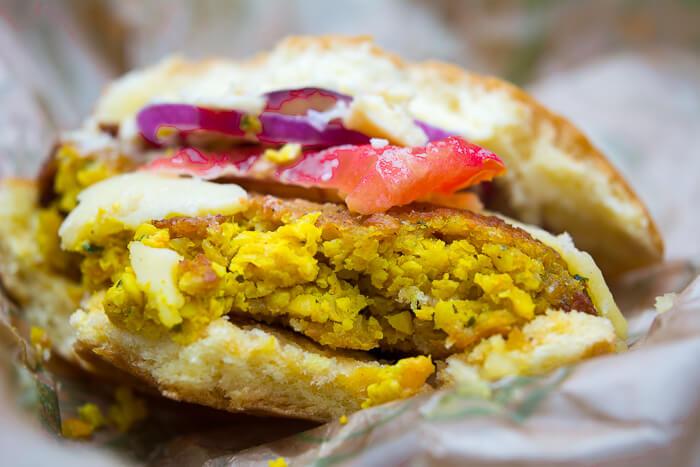 VBurger Feisty Falafel review Camden Market