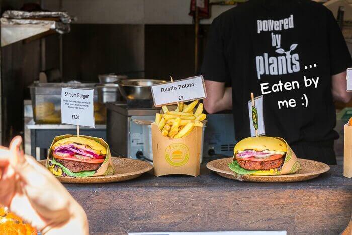 Vburger Camden Market burgers