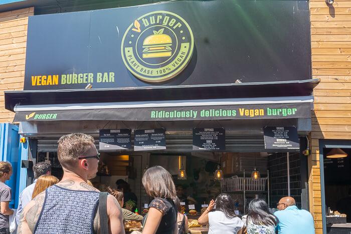 VBurger food stall Camden