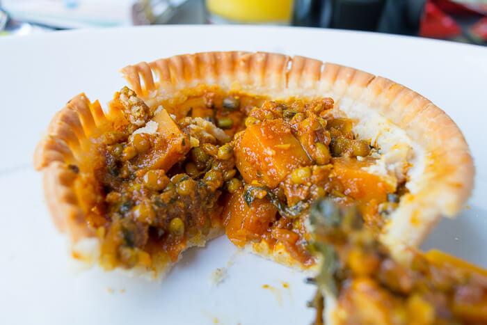 vegan curry pie review Camden young vegans