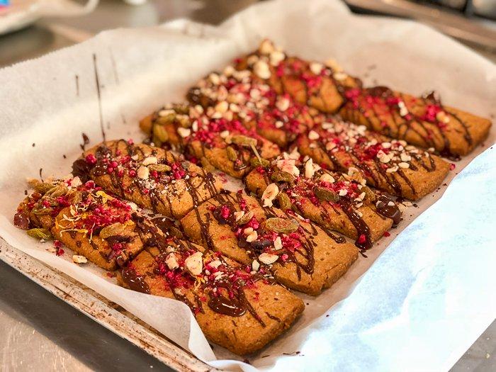 chocolate nut biscuits River Cottage gluten free school