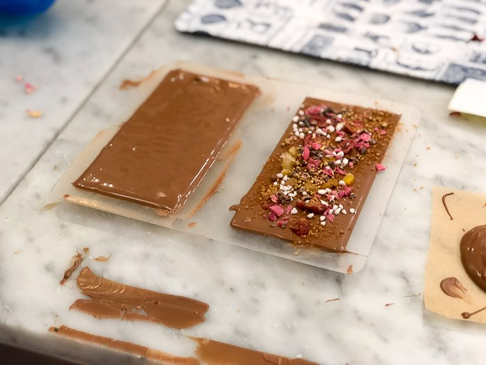 decorated chocolate experience London review Rococo