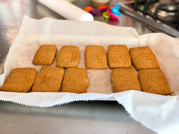sorghum almond biscuits course River Cottage gluten free