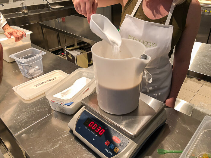 weighing ice cream ingredients airbnb experience review
