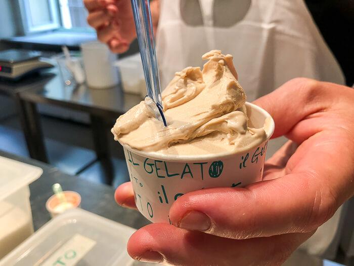 Gelato class Milan review hazelnut ice cream