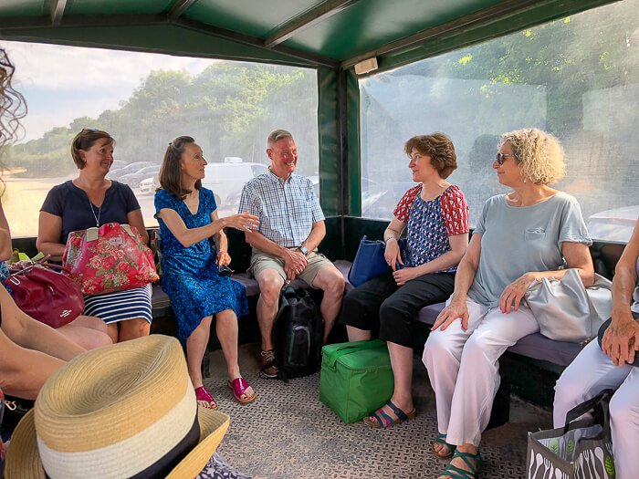 River Cottage gluten free cookery course tractor ride