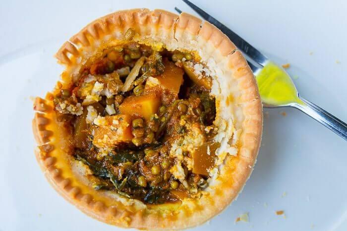 vegan gluten free curry pie young vegans Camden Review