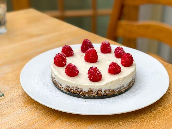 dairy free dessert course cheesecake