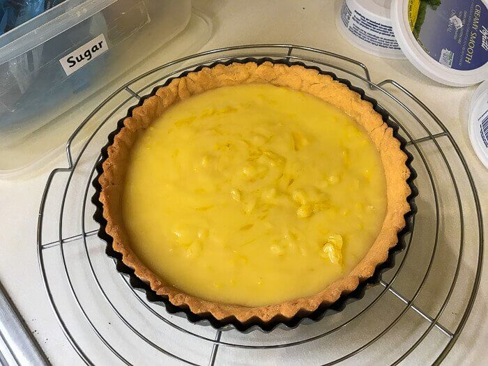 dairy free desserts course lemon curd tart