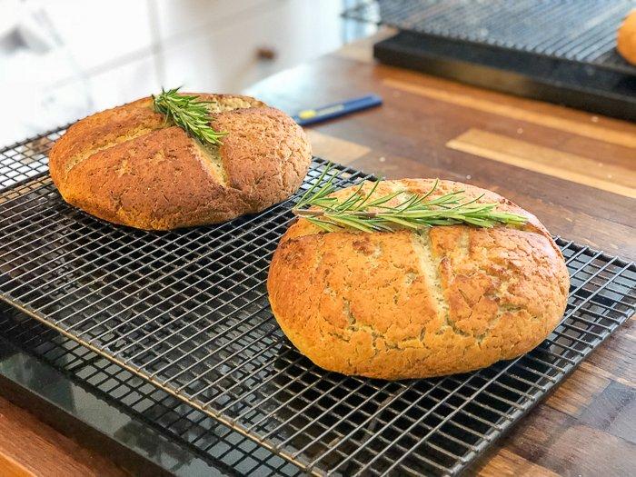 rosemary pea flour gluten free artisan bread course