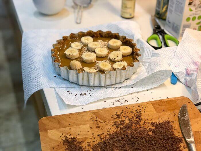 vegan banoffee pie dairy free course desserts